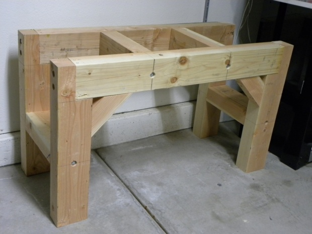 workbench plans using 4x4