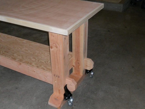 workbench plans mortise and tenon