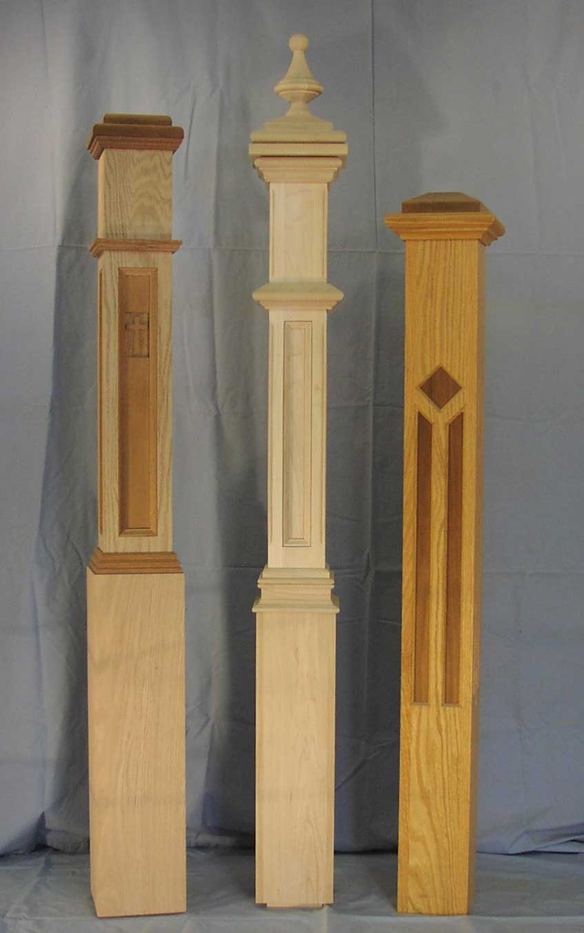 Newel Posts The Woodworks Company | Exterior Wood Newel Posts | Porch | Banister | Stair Railing | Oak | Cap