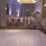 White LED starlight dance floor