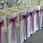 White lycra chair covers
