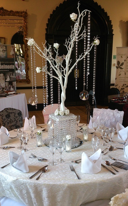 Crystal tree centrepiece for weddings