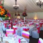 Summer wedding venue decorations