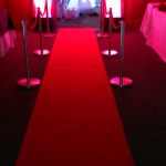 Red carpet and flame machine VIP entrance