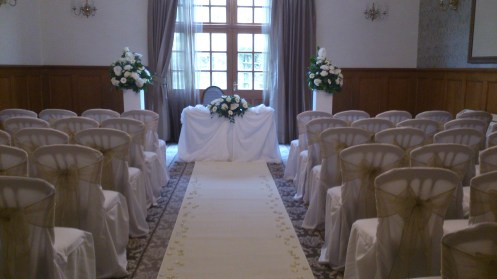 Nunsmere Hall wedding venue dressing