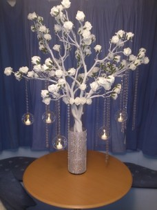 White rose tree