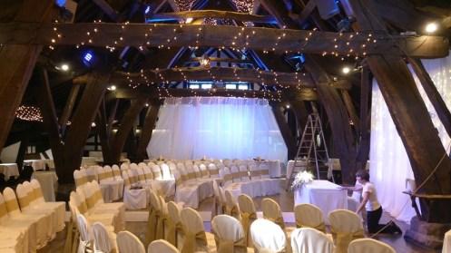 Rivington Barn wedding venue dressing