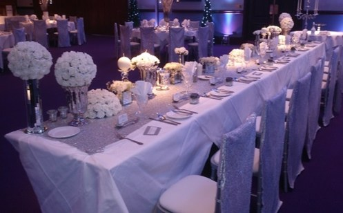 Wedding top table set up