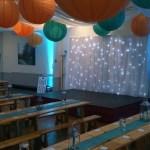 Grappenhall Community Social Club wedding decorations