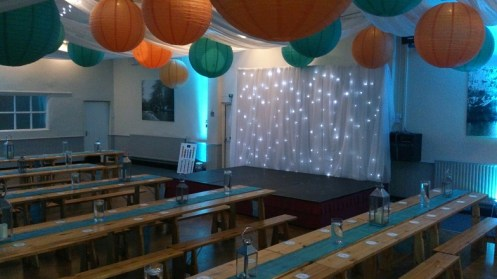 Grappenhall Community Social Club wedding decorations