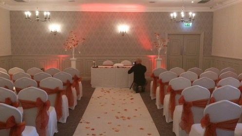 Mottram Hall wedding ceremony
