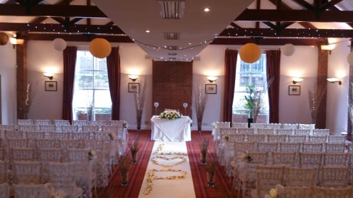 Carden Park Shooting Lodge venue dressing