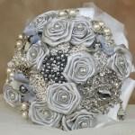 Silver brooch bouquets