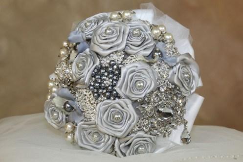 Silver Bridal bouquets