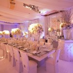 White wedding venue dressing