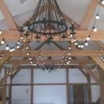 Festoon lights at Sandhole Oak Barn