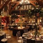 Woodland wedding venue dressing