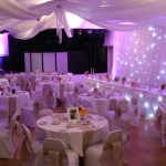 Room draping for weddings