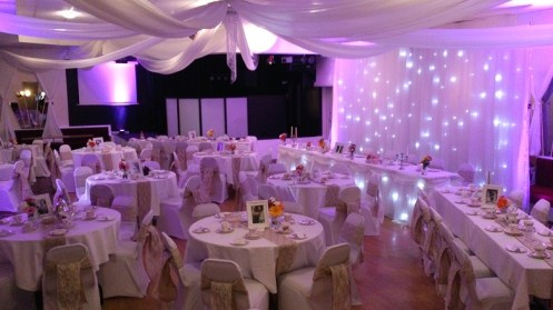 Room draping for weddings