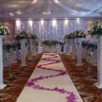 Wedding ceremony decor at the Worsley Park Marriott