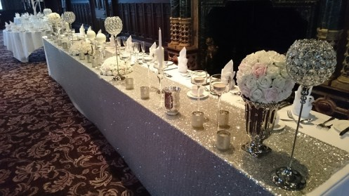Crewe Hall wedding decor