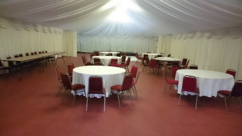 marquee at bowdon rugby club