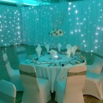 Venue draping and lighting