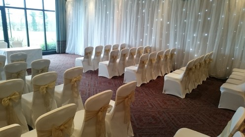 Venue draping for weddings
