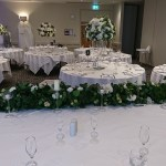 Centrepieces and top table