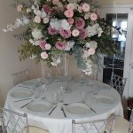 5ft pink and white floral