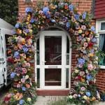 Summer floral arch