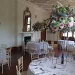 Large floral pastel centrepieces