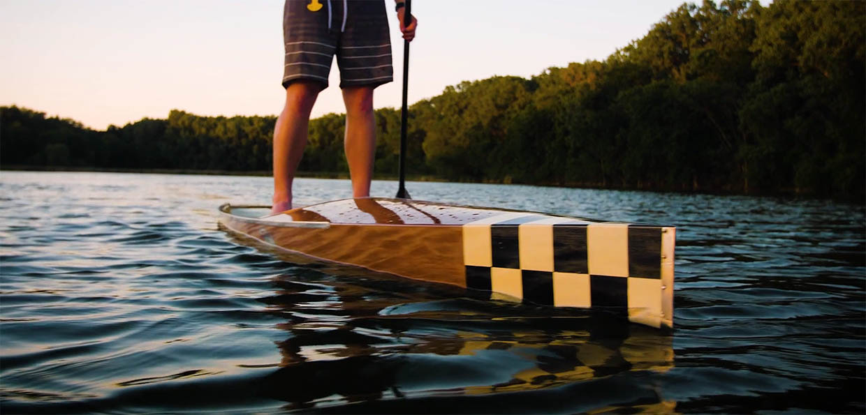 as you may recall we featured these paddle boards a while back when it was just a prototype story here