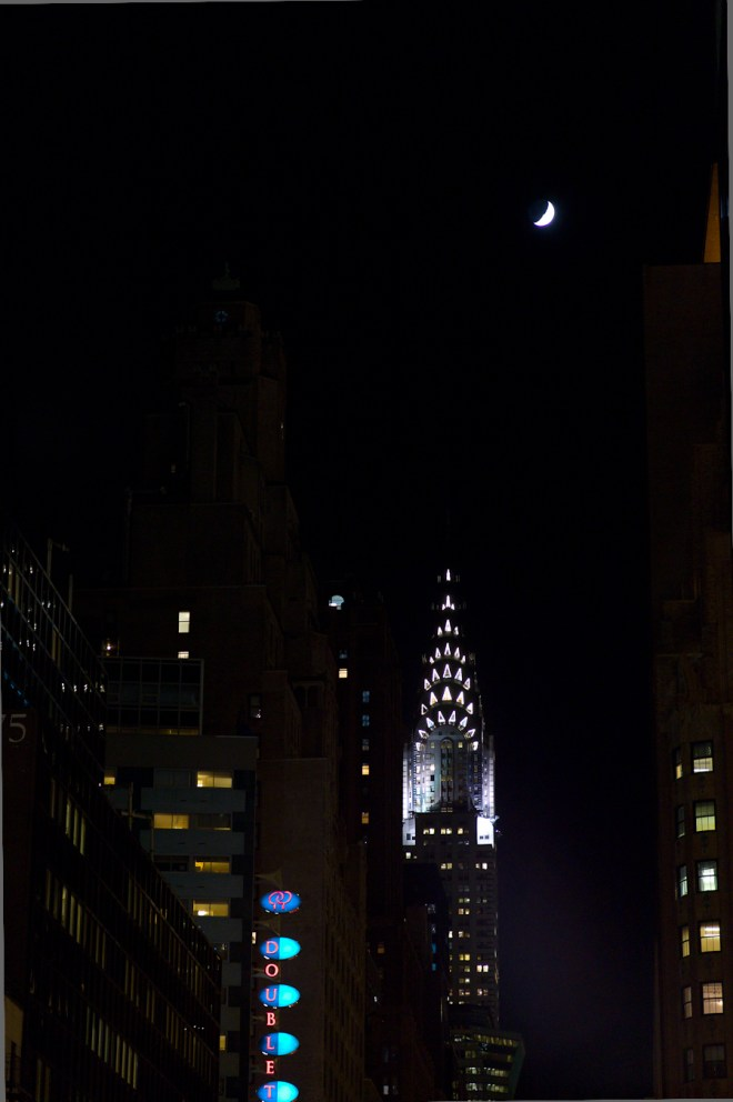 Chrysler Building with Moon