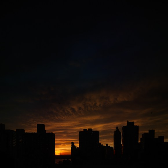 Sunrise out my window