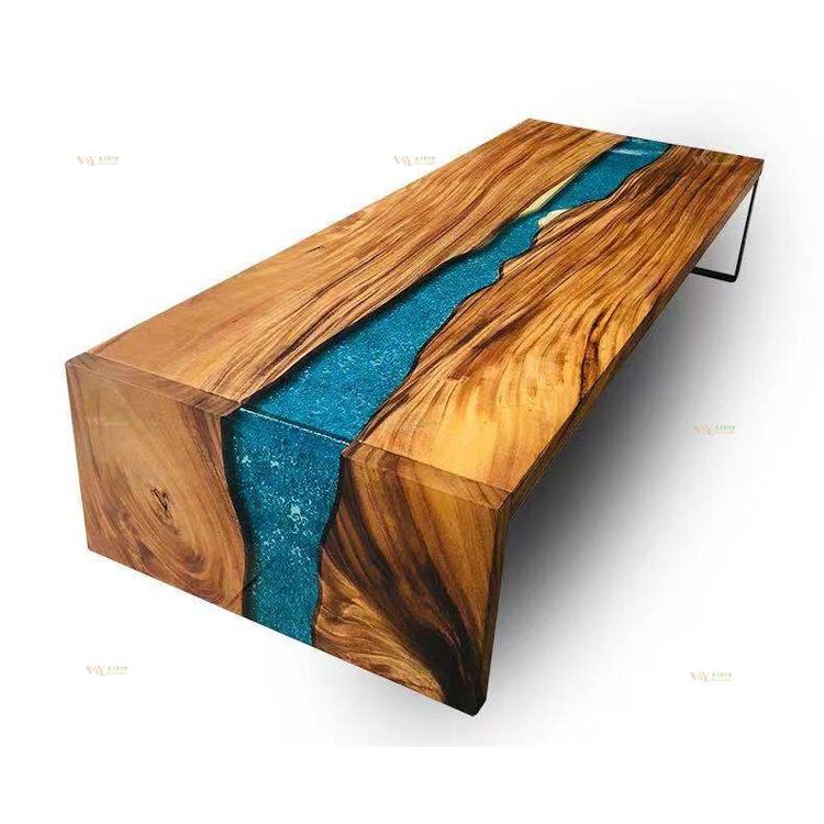 table bois massif unique slab noyer en