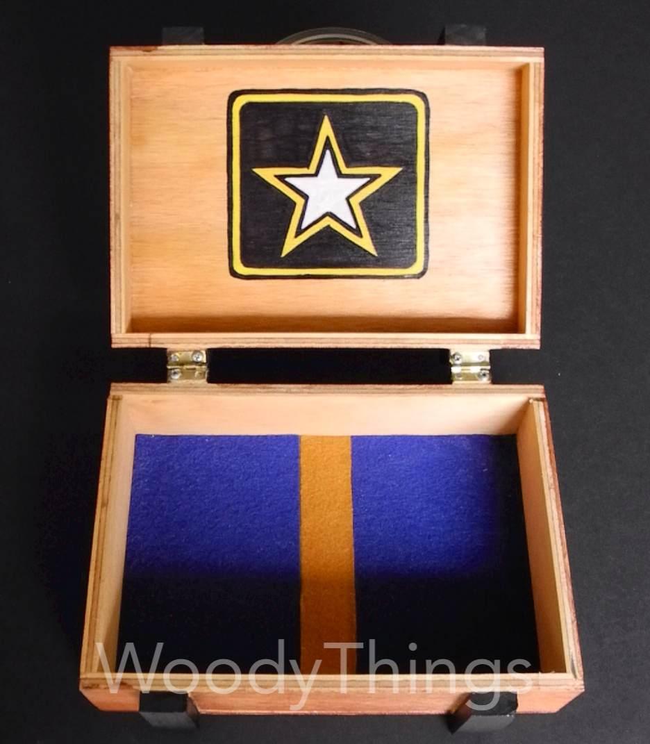 U S Army Wooden Keepsake Box Woody Things Llc