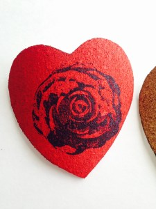 Red heart with stamp