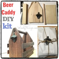 Beer Caddy DIY Kit Wooden Handle