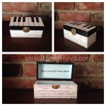 Piano Keys Trinket Keepsake Box