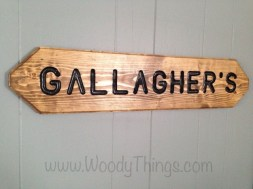 Personalized Wall or Lawn Sign angled view