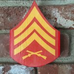 Wooden Enlisted Chevron