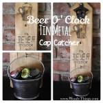 Tin Metal Beer O'Clock