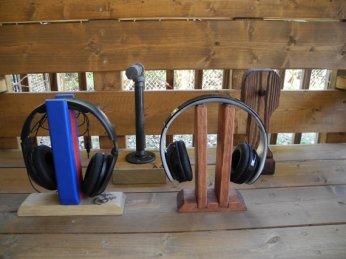 WoodyThings Twins Headphone Stand 2