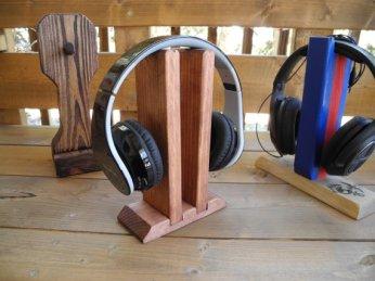 WoodyThings Twins Headphone Stand