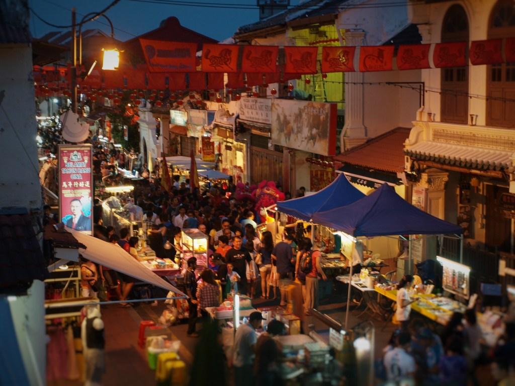 Jonker Street markets in Malacca