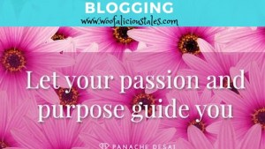 pink flowers with let your passion and purpose guide you message
