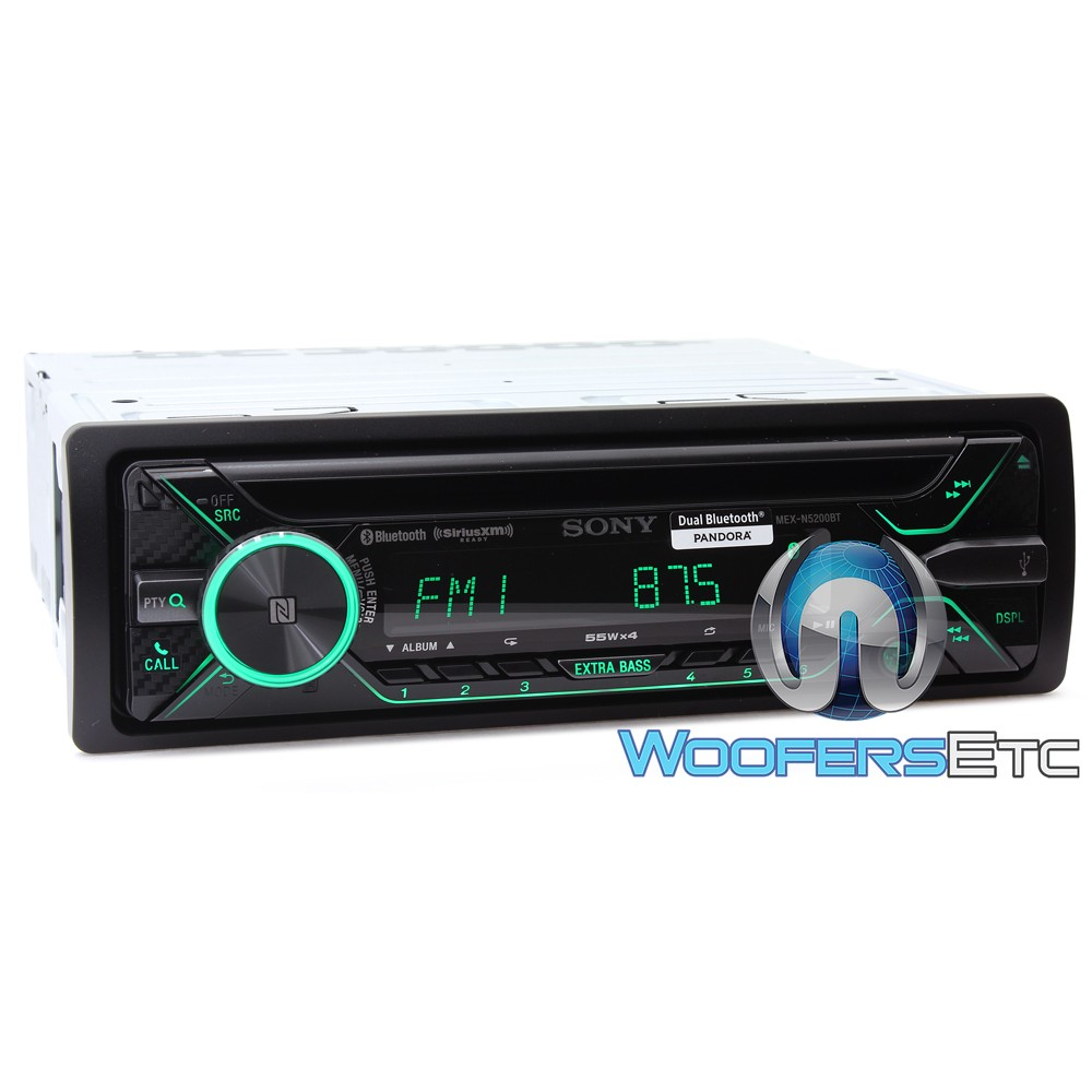 Sony Mex N Bt In Dash 1 Din Cd Mp3 Stereo Receiver With