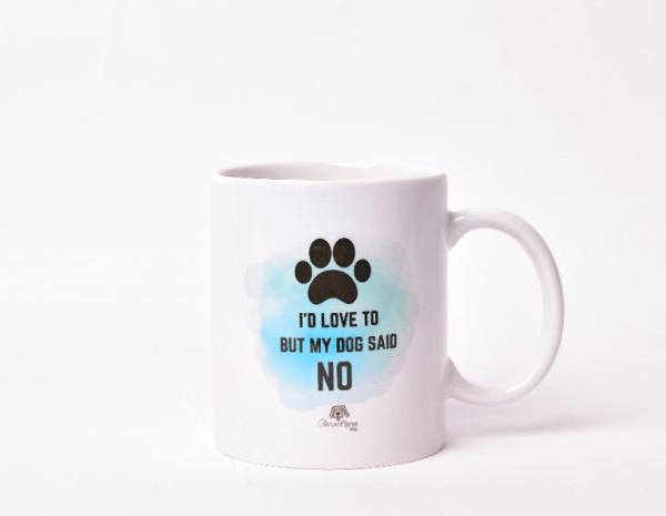 'My Dog Said No' Paw Mug