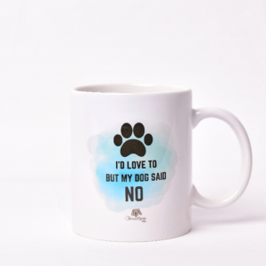 'My Dog Said No' Paw Mug